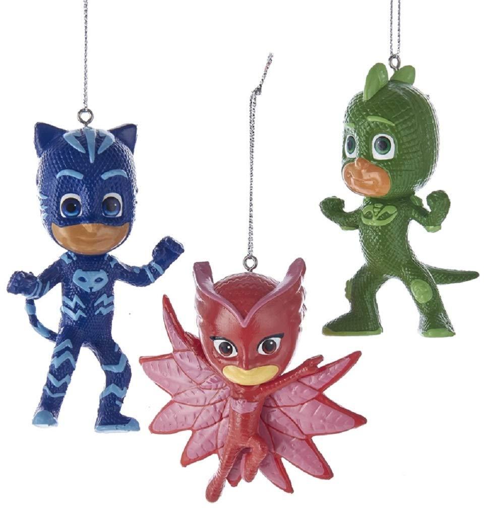 Kurt Adler 3 5-Inch PJ Masks Christmas Ornament Set of 3