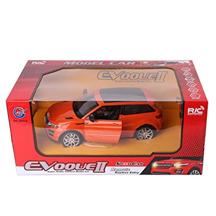 Amazon.com: XmasToys Orange RC Sports Car All-Terrain Utility SUV Coupe Remote Control Cars Classic Scale 1:14 with Sound Flash Light: Toys & Games