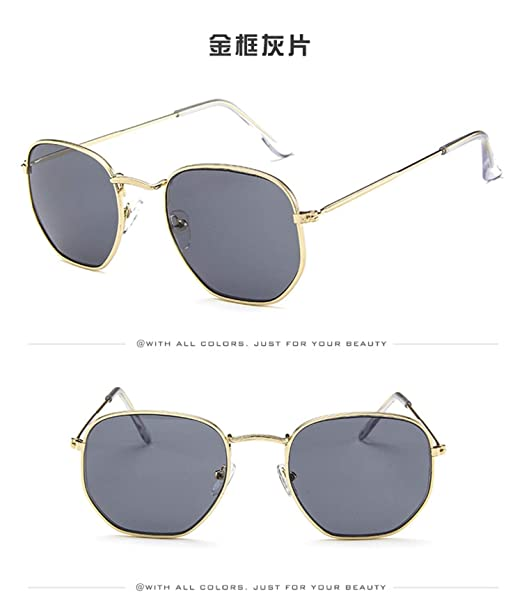 Gafas, Gafas de sol, Vintage Brand Designer Hexagonal ...