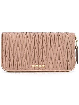 check out 37a5d 8c176 Miu Miu Women's 5Ml506n88f0770 Pink Leather Wallet at Amazon ...