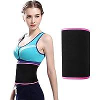 Tuffinno Waist Trimmer Belt, Weight Loss Wrap Waist Trainer Belt for Women Men Adjustable Slimming Sweat Stomach Fat Burner Low Back Lumbar Support Abdominal Trainer with Sauna Suit Effect