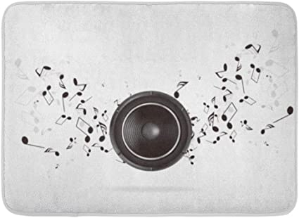 Fussmatten Bad Teppiche Outdoor Indoor Turmatte Silber Lautsprecher Abstrakte Musik Retro Sound System Laute Box Larm Badezimmer Dekor Teppich Badematte Amazon De Kuche Haushalt