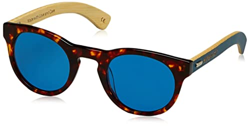 HÄRVIST Roundmix, Gafas de Sol Unisex, Carey / Bambú Azul, 48