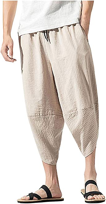 Dasongff Harem - Pantalones cortos para hombre, tipo sarouel, boho ...