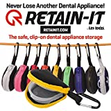 Retain-it - The Safe, Clip-on, Retainer, Mouth Guard and Dental Appliance Storage Solution! (Now Patented!) (Yellow)