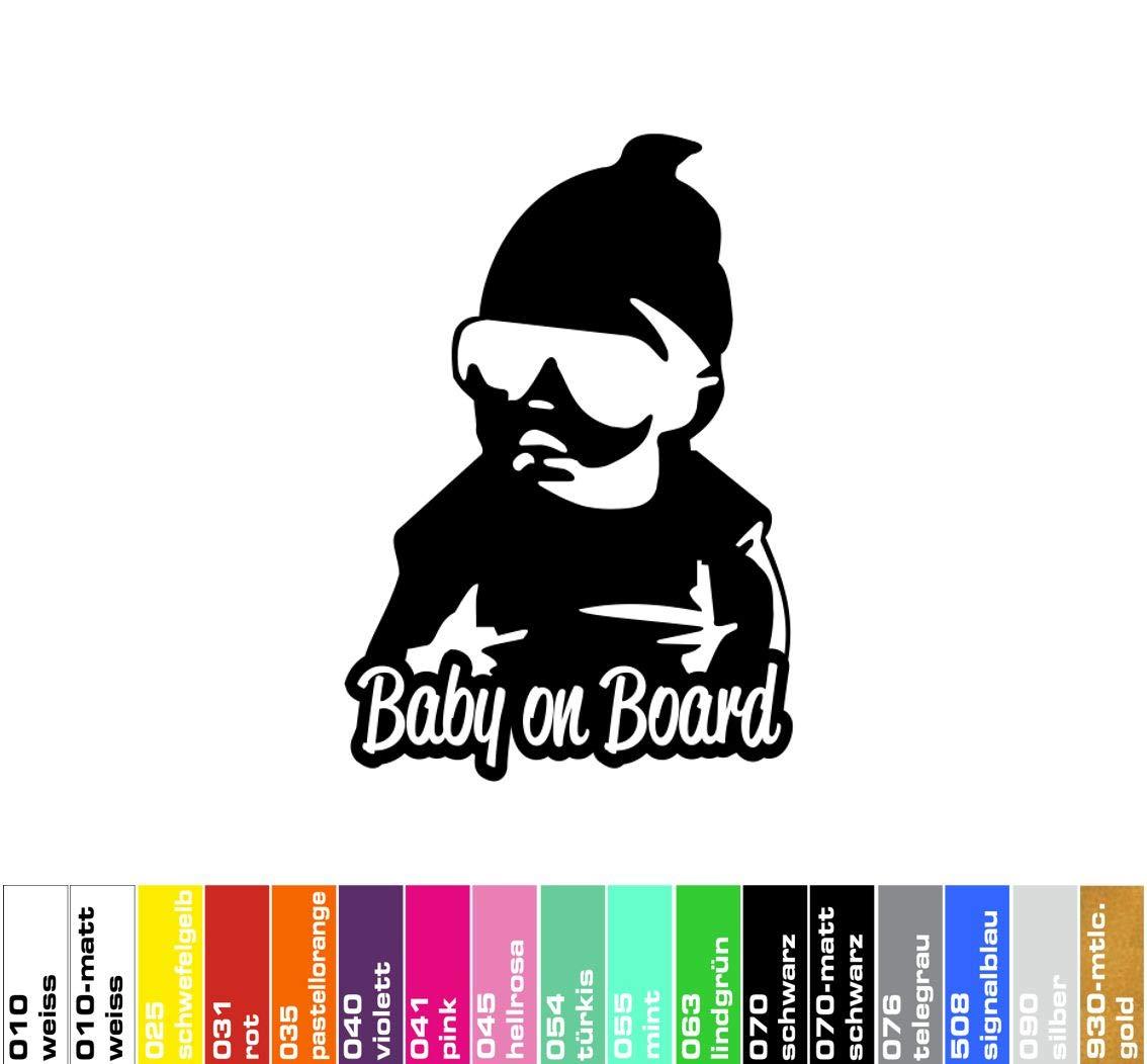 decalstore Baby on Board Aufkleber schwarz-matt