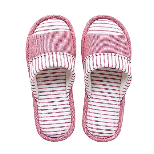 fca7129e1 Mianshe Unisex Knitted Cotton Slippers Washable Open Toe Indoor Shoes  Non-Slip Sole House Slippers