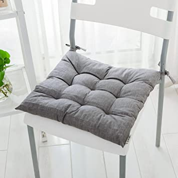 LJu0026XJ Esszimmer Stühle Kissen,Baumwolle Kissen Thickened Japanisch  Anmutenden Stuhlkissen Mit Krawatten Sitzkissen Für Büro