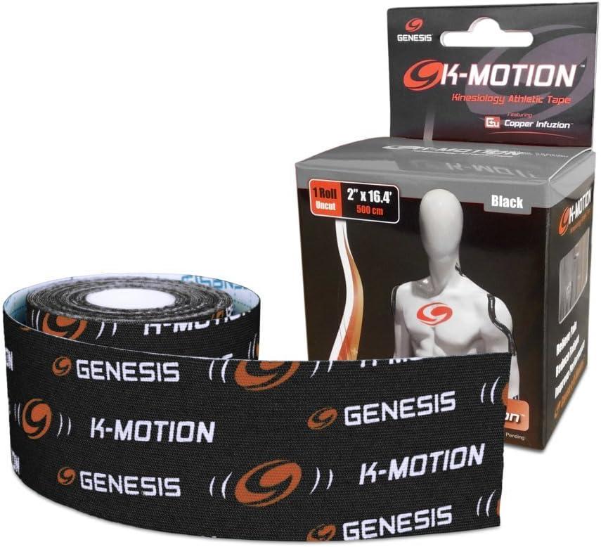 Genesis K-Motion Tape with Copper Infuzion- Black UNCUT Roll