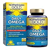 Norwegian Gold – Daily Omega – Whole Omega oil supplement – 60 softgel capsules – Renew Life brand Review