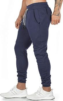 Yageshark - Pantalones de deporte para hombre, de algodón ...