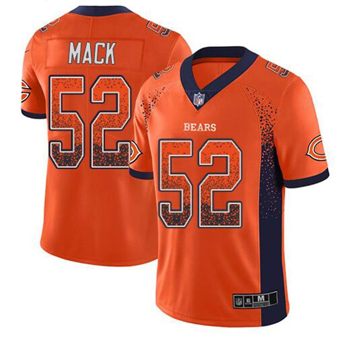 2fa54b56 Men's Chicago Bears #52 Khalil Mack Orange Color Rush Jersey