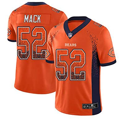 new arrival e7b3d 0fff0 Men's Chicago Bears #52 Khalil Mack Orange Color Rush Jersey