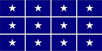 BONNIE BLUE VINYL FLAG DECAL STICKER