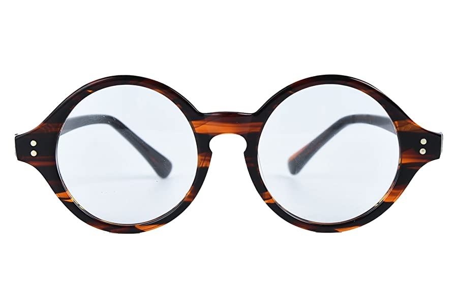 Amazon.com: Agstum Handmade Retro Round Optical Eyeglasses Frame ...