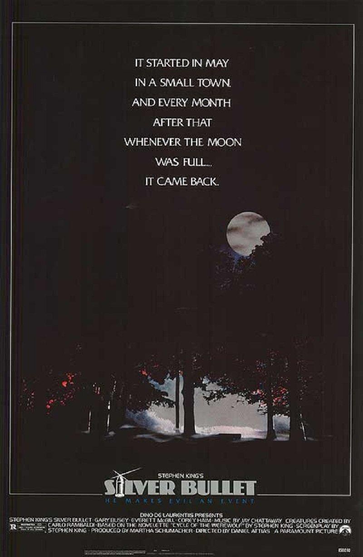 Silver Bullet 1985 S/S Movie Poster 17x24 Corey Haim Megan Follows Paramount Pictures Gary Busey