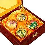 iLOVEPandas Hand-painted Massage Balls Hand Exercise Baoding Balls Chinese Classics Collection (Style 2)
