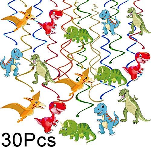30 ct dinosaur hanging swirl decorations dino fossil jurassic t rex