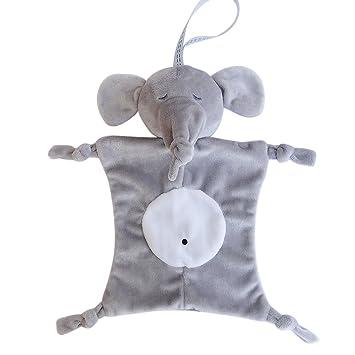 LUOEM Pañuelo para bebé Pañuelo para bebé Burp Pañuelo Toalla Animal Muñeco de peluche (Elefante gris): Amazon.es: Hogar