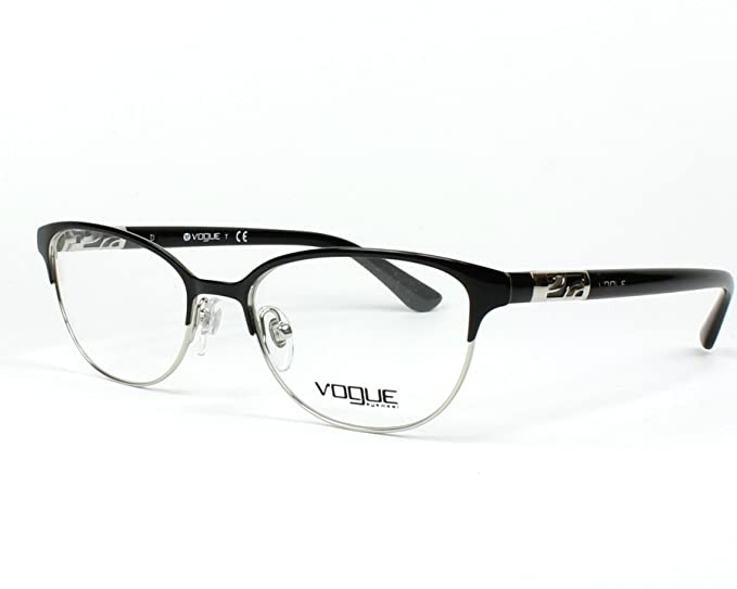 b082191bd08 Vogue VO4066 Eyeglass Frames 352-51 - Black Silver VO4066-352-51   Amazon.co.uk  Clothing