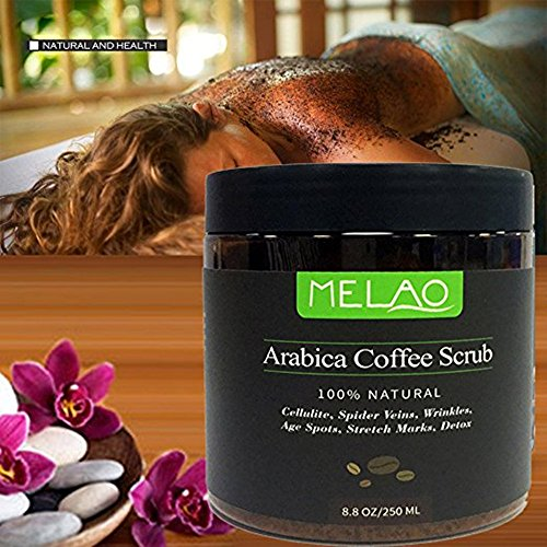 TBEA 100% Natural Arabica Coffee Scrub with Organic Coffee, Coconut and Shea Butter, 8.8 oz (10PACK) by TBEA (Image #3)