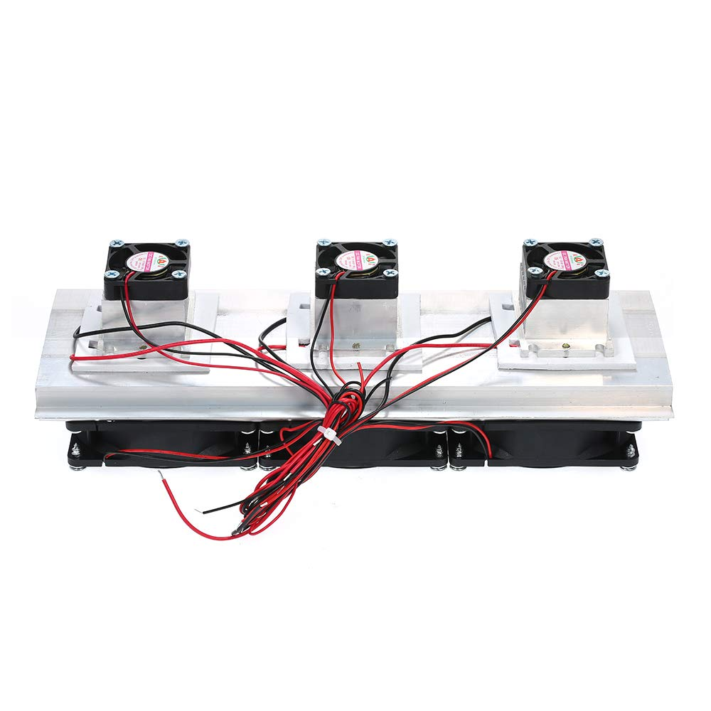 Baugger Cooler,3xFan Trinuclear Thermoelectric Peltier Refrigeration Air Cooling System Kit Cooler 180W