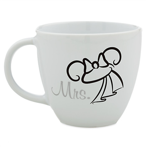 Minnie Mouse ''Mrs.'' Mug | Drinkware | Disney Store
