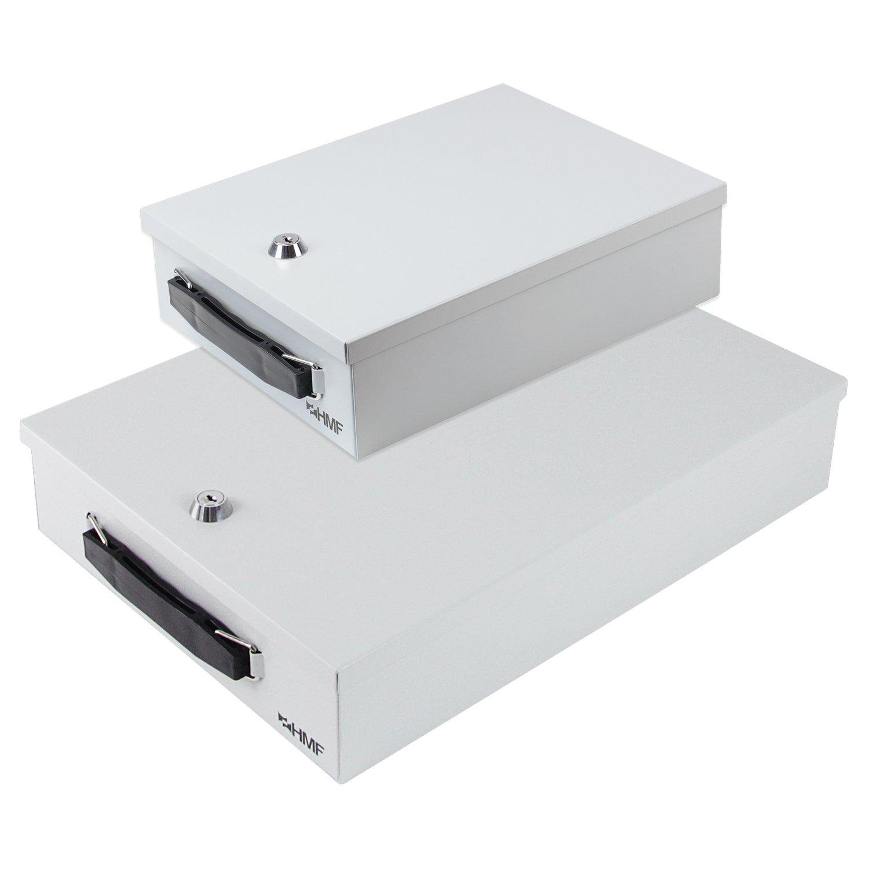 HMF - Caja para documentos (DIN A4, 37,5 x x x 26,5 x 8 cm), color gris claro 694d92