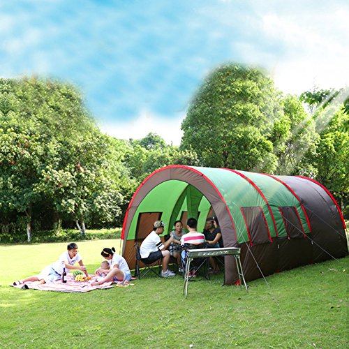 Wosports Family Tents 8 to 10 Person Big Horn Camping Hunting Tent with Portable Pack (Green)