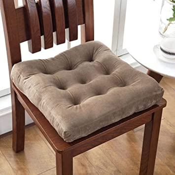 Nathime Thicken Velour Patio Chair Pads Indoor Office Home Kitchen Square  Dining Chair Cushion
