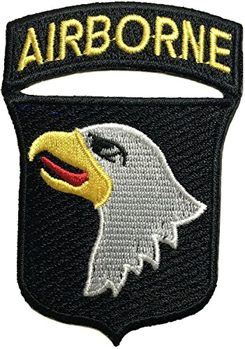 101st AIRBORNE Divisions Screaming Eagle Sew Iron on Embroidered Applique Badge Sign Costume Paratrooper Shoulder Patch - Black By Thai Vintage