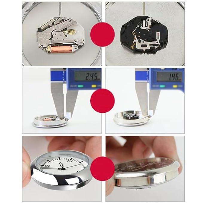 Coche Luminoso Del Reloj Digital Del Coche Con El Reloj De Cuarzo Electrónico Reloj Reloj Adornos Universal: Amazon.es: Coche y moto