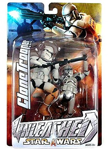 Clone Trooper 2 Piece Helmet - Star Wars Unleashed Action Figure Clone Trooper All White