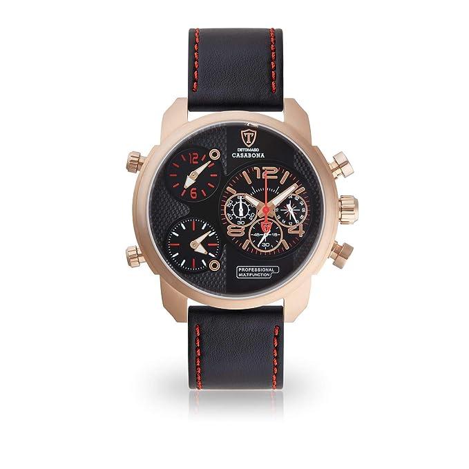 DeTomaso Reloj Multifunctional Forza Di Vita DT2018-A: Amazon.es: Relojes