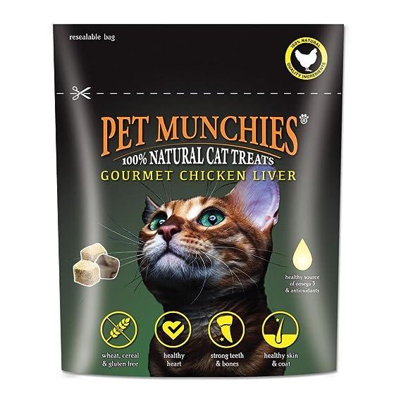 Pet Munchies - Snacks gourmet de hígado de pollo para gatos (10g/Variado)
