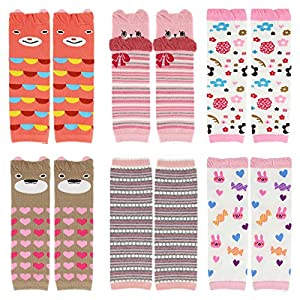 CMK Trendy Kids 6 Pairs Baby Leg Warmers Leggings Kneepads...