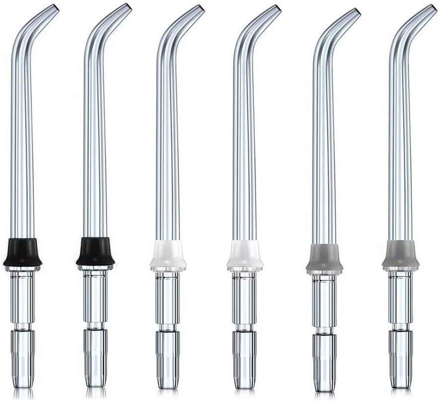 EUFANCE Accesorios de puntas de pulverización de repuesto para chorros de agua dentales para irrigadores bucales Waterpik (como WP-100) (6 piezas)