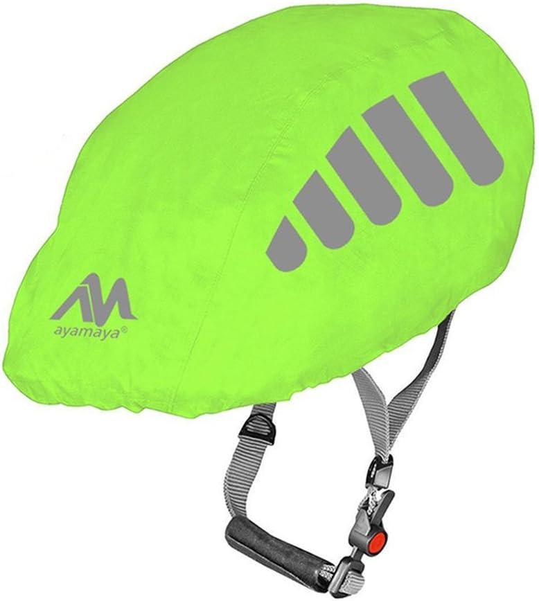 AYAMAYA Bike Helmet Cover with Reflective Strip, High Visibility Waterproof Cycling Bicycle Helmet Rain Cover Windproof Dustproof Breathable Road Bicycle Helmet Water Cover Ride Gear
