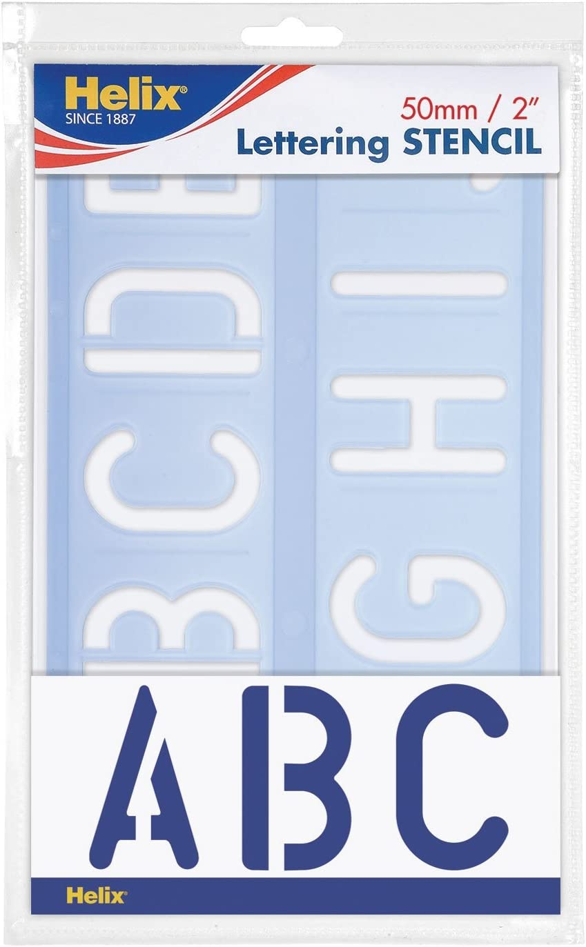 20 mm Blue Helix H23100 stencil lettere in corsivo