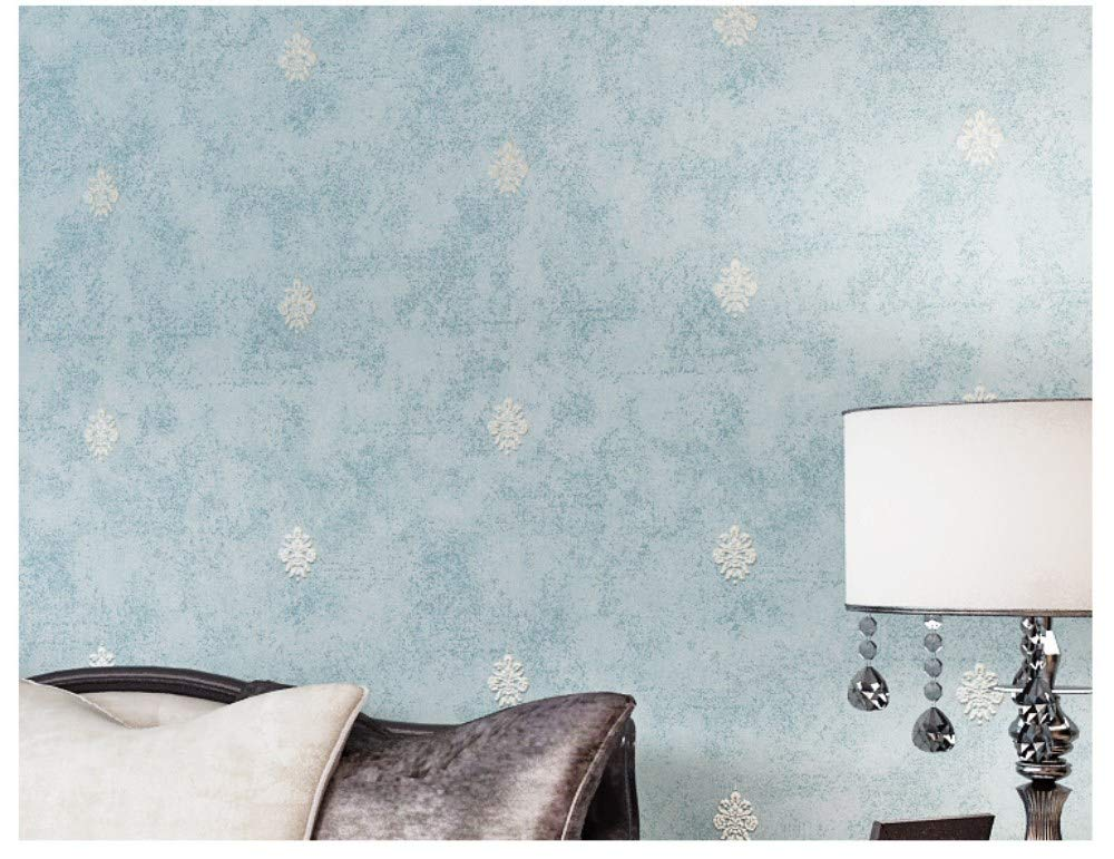 Amazon.com : Non-Woven Wallpaper American Country Light Blue ...