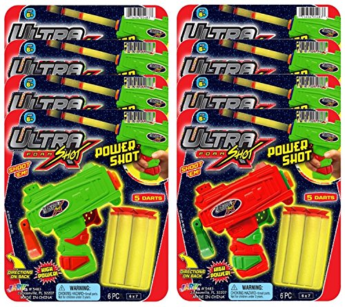 Ja-Ru Ultra Foam Shot Power Party Favor Bundle Pack 5483-8