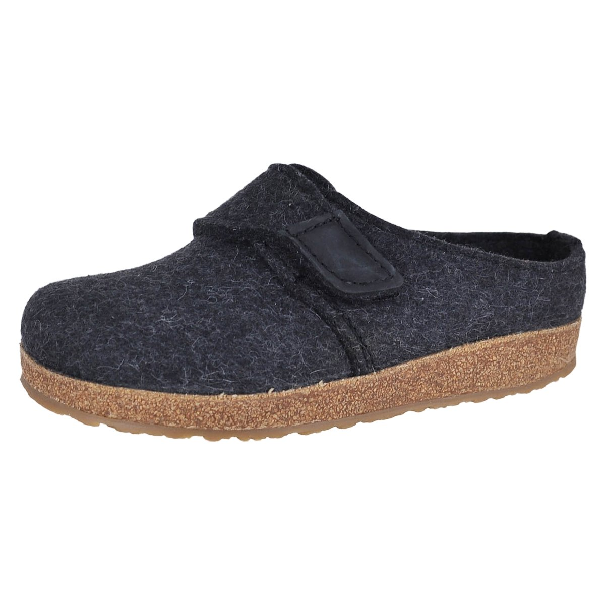 Haflinger Journey Unisex Grizzly Charcoal Clog (37)