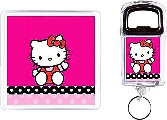 Öffne Flasche und Untersetzer Hello Kitty