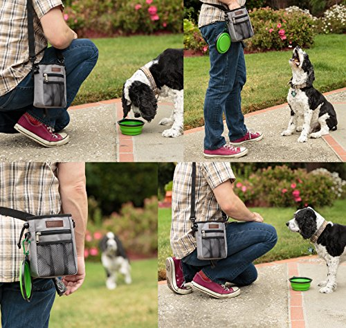 Friends Forever Dog Treat Pouch Training Bag, Rip-Stop Tough Nylon Poop Waste Bag Holder Dispenser for Pet by Friends Forever (Image #5)