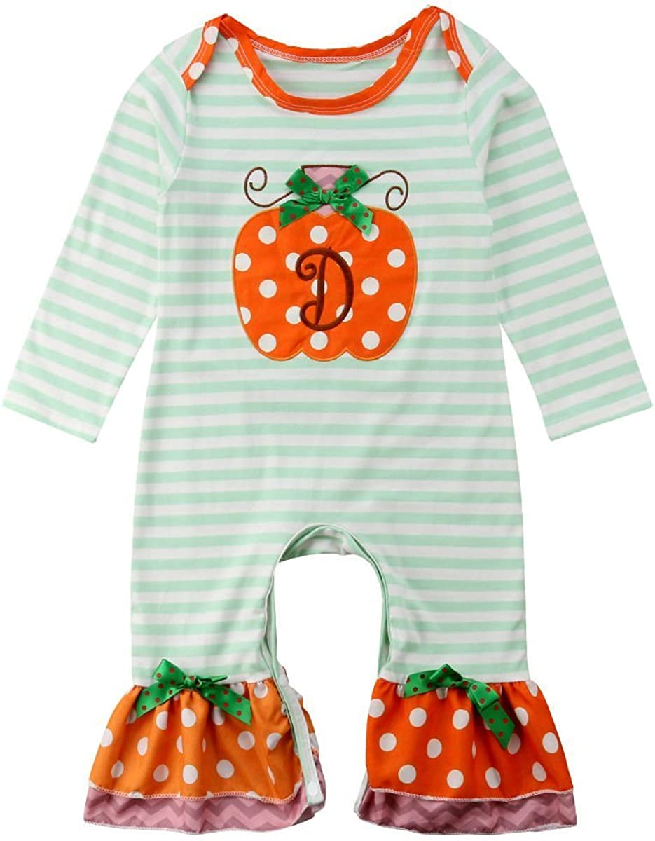 Aunavey Newborn Baby Girl Vintage Style Baby Romper Birthday Outfit with Lace Sleeve