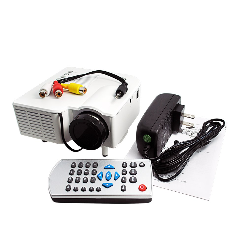 Uc28 Portable Projector Built Interframe Media Unic Mini Led 400 Lumens Proyektor Uc 28 Plus Brightness Color Digital Multimedia Home Cinema Theater Perfect For Dvds