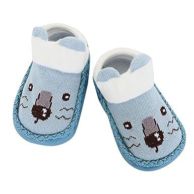 29cc448763f88 Robemon❤️Nouveau-né Anti-dérapant Chaussettes Bébé Dessin Animé Chaussures  Bébé Filles Chaussures Enfant Garcon Pantoufle Bébé Boots  Amazon.fr   Vêtements ...