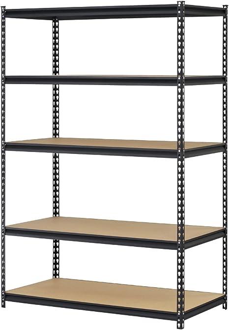 Pack of 2 URWM184872BK Black Steel Storage Rack 72 H x 48 W x 18 D