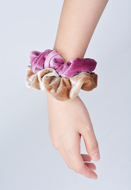Fascigirl 10 Pack Velvet Hair Scrunchies Hair Band Bobbles Hair Ties Elastic Hair Ties Soft Ponytail Holders for Women Girls, 10 Colors