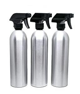 3 Pack Empty Aluminum Spray Bottles with Sprayers 20 oz.